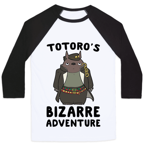 Totoro's Bizarre Adventure  Baseball Tee