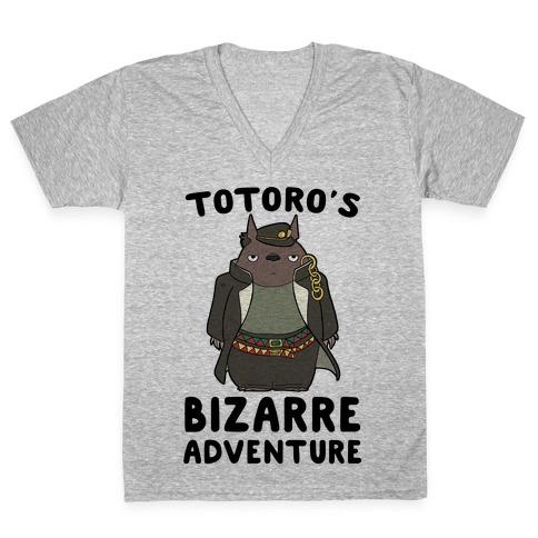 Totoro's Bizarre Adventure V-Neck Tee Shirt
