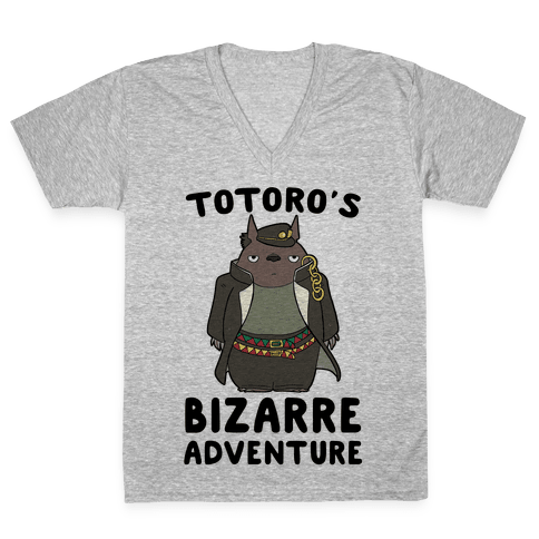 Totoro's Bizarre Adventure  V-Neck Tee Shirt