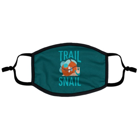 Trail Snail Flat Face Mask