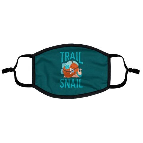 Trail Snail Flat Face Mask