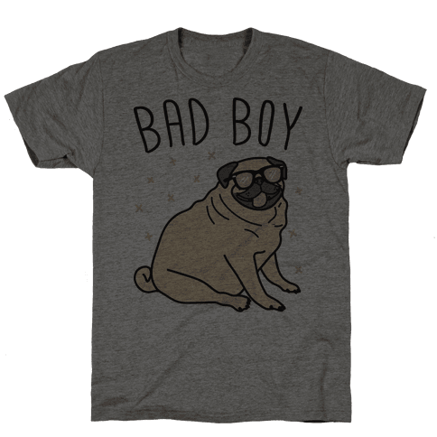 Bad Boy Pug Mens T-Shirt