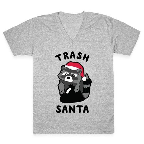 Trash Santa V-Neck Tee Shirt