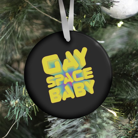 Gay Space Baby Ornament