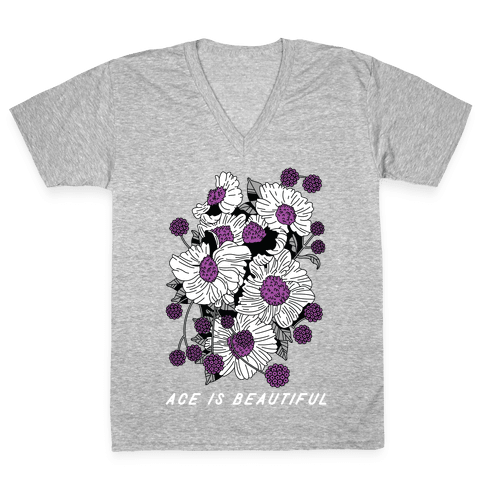 ACE is Beautiful V-Neck Tee Shirt