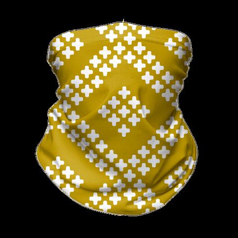Little Cross Pattern Yellow Neck Gaiter
