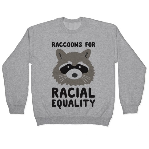 Raccoons For Racial Equality Pullover