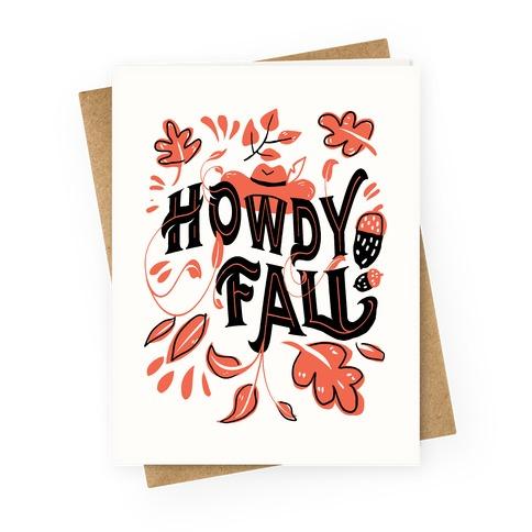 Howdy Fall Greeting Card