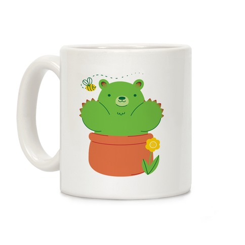 Bear Paw Cactus Coffee Mug