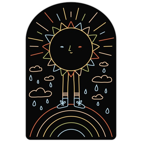 Solar Power Rainbow Die Cut Sticker