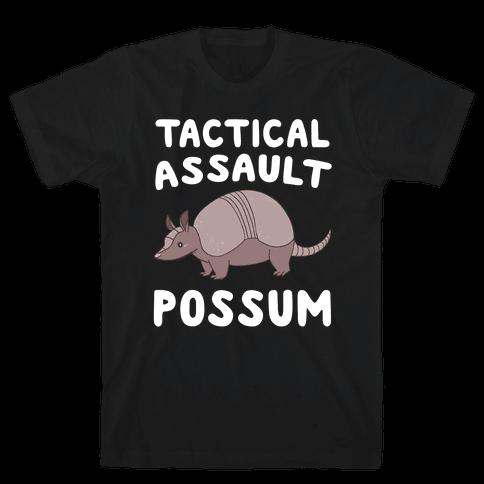 Tactical Assault Possum - Armadillo Mens T-Shirt