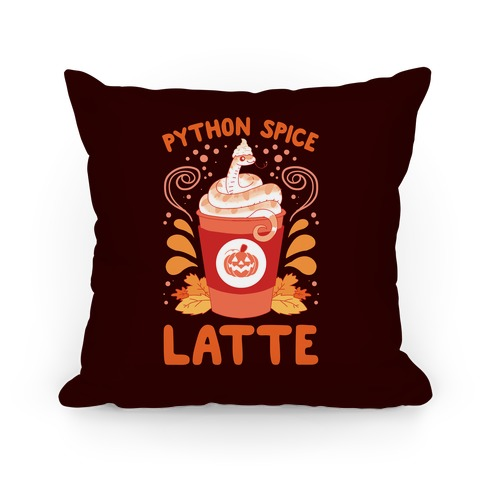 Python Spice Latte Pillow