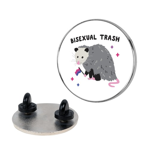 Bisexual Trash Opossum Pin
