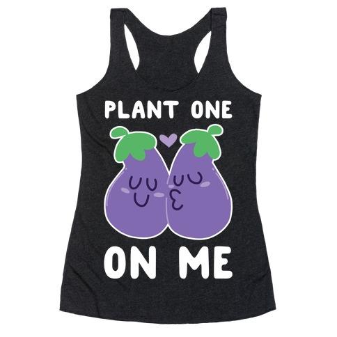 Plant One on Me - Eggplant Racerback Tank Top