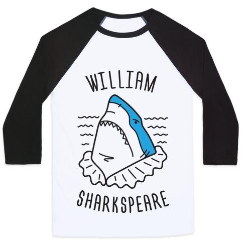William Sharkspeare Baseball Tee