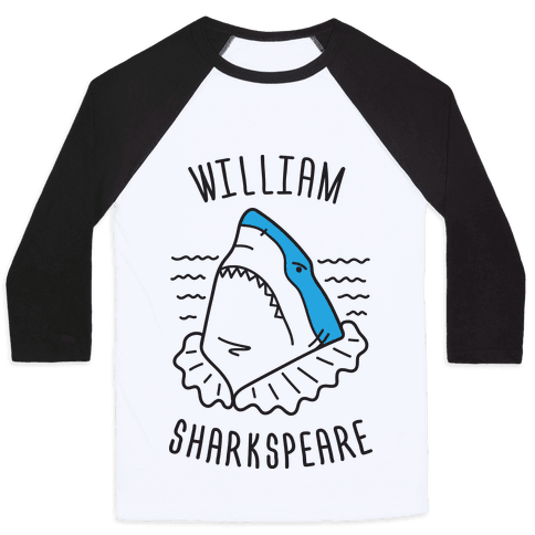 William Sharkspeare Baseball Tee