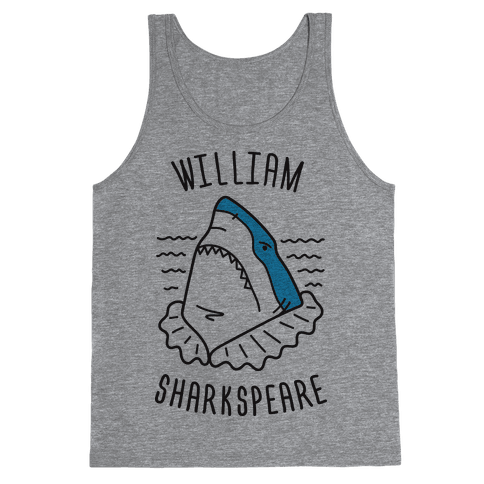 William Sharkspeare Tank Top