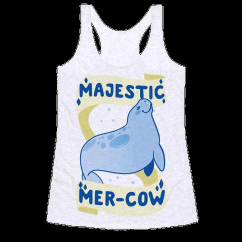 Majestic Mer-Cow Racerback Tank Top