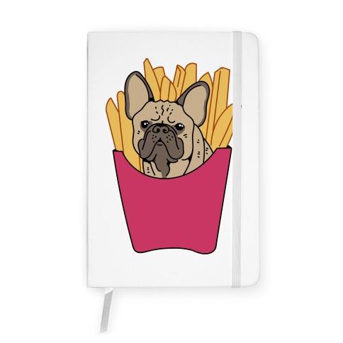 French Fry French Bulldog Notebook