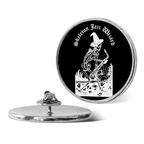 Skeleton Jazz Wizard pin