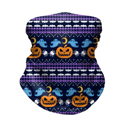 Ugly Halloween Sweater Neck Gaiter