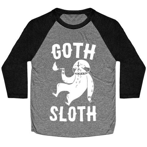 Goth Sloth Baseball Tee