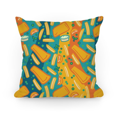 Groovy Fish And Chips Pillow