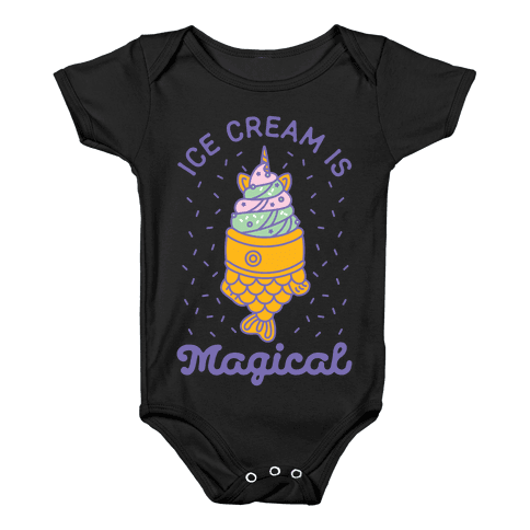 Ice Cream is Magical Baby Onesy