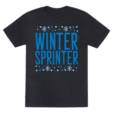 Winter Sprinter White Print T-Shirt