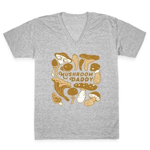 Mushroom Daddy V-Neck Tee Shirt