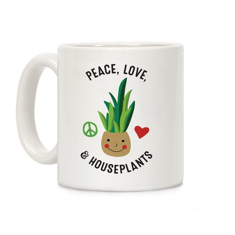 Peace, Love, & Houseplants Coffee Mug