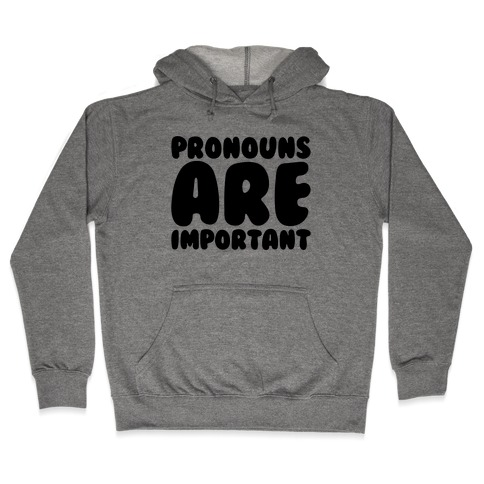 Pronouns Are Important Hooded Sweatshirt