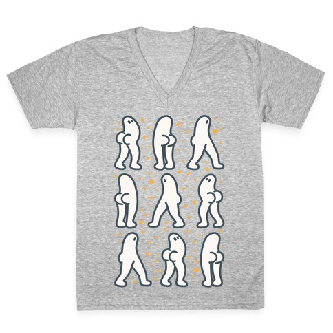 Fresno Nightcrawler Butts V-Neck Tee Shirt