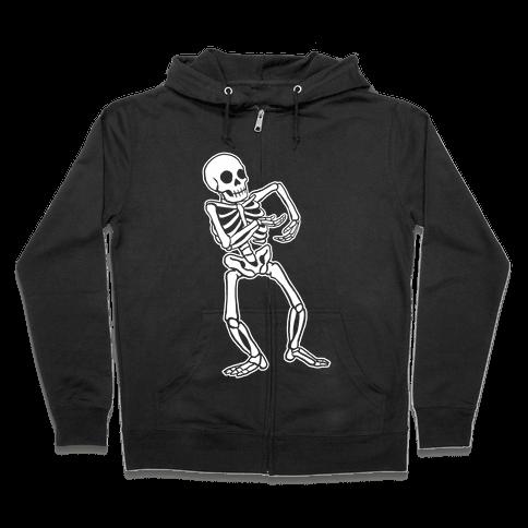 Milly Rocking Skeleton Zip Hoodie