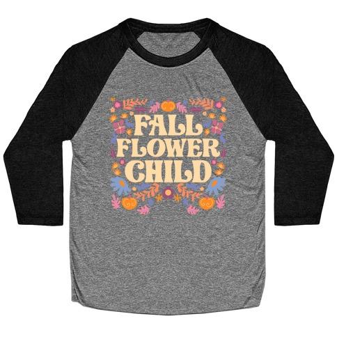 Fall Flower Child Baseball Tee