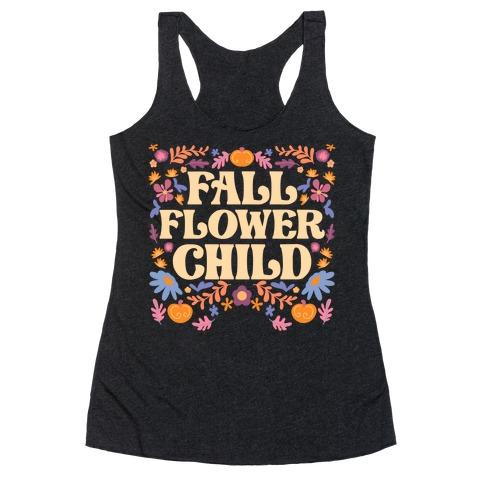 Fall Flower Child Racerback Tank Top