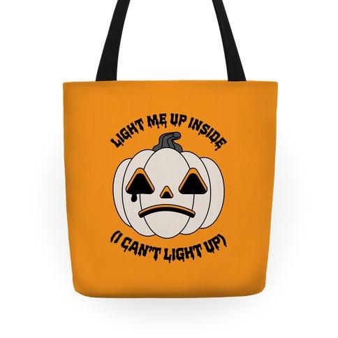Light Me Up Inside Pumpkin Tote