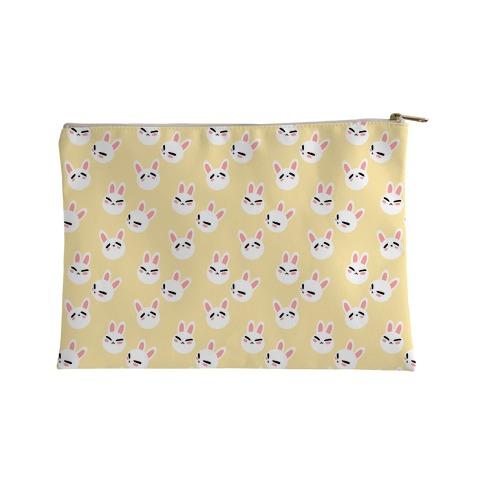 BunBun Pattern Yellow Accessory Bag