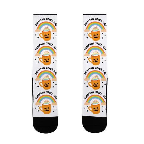 Pumpkin Spice Gay Sock