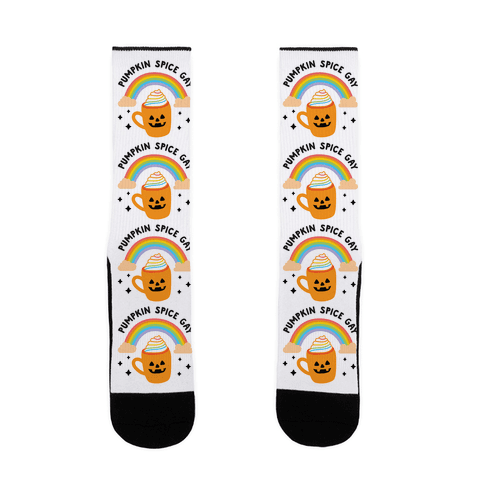 Pumpkin Spice Gay Sock