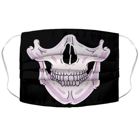 Skull Accordion Face Mask