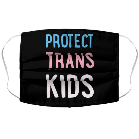 Protect Trans Kids Accordion Face Mask