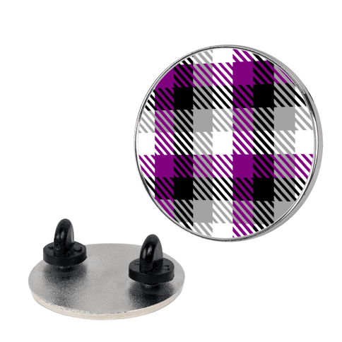 Ace Pride Flag Plaid Pin
