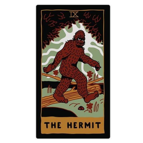 The Hermit (Bigfoot) Die Cut Sticker