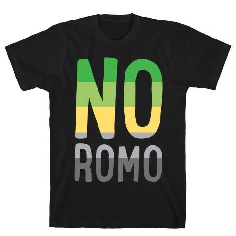 No Romo White Print T-Shirt