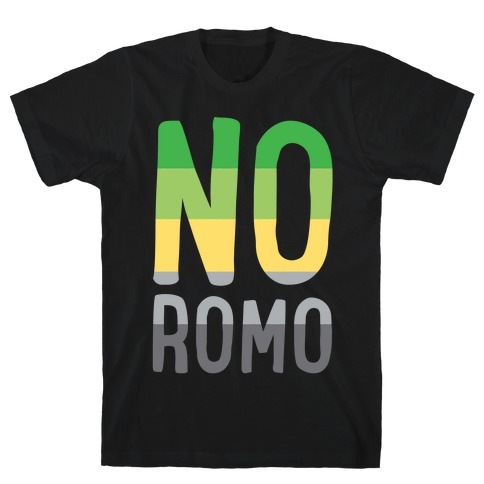 No Romo White Print Mens T-Shirt