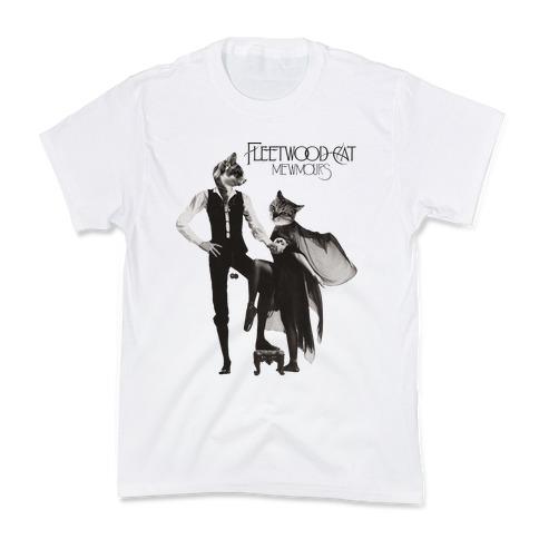 Fleetwood Cat Mewmours Mashup Kids T-Shirt
