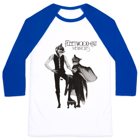 Fleetwood Cat Mewmours Mashup Baseball Tee