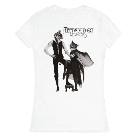 Fleetwood Cat Mewmours Mashup Womens T-Shirt