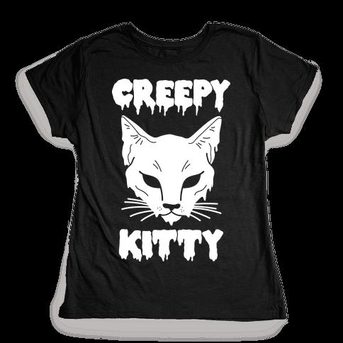 Creepy Kitty Womens T-Shirt